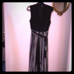 R & M Richards Jumpsuit with sheer top